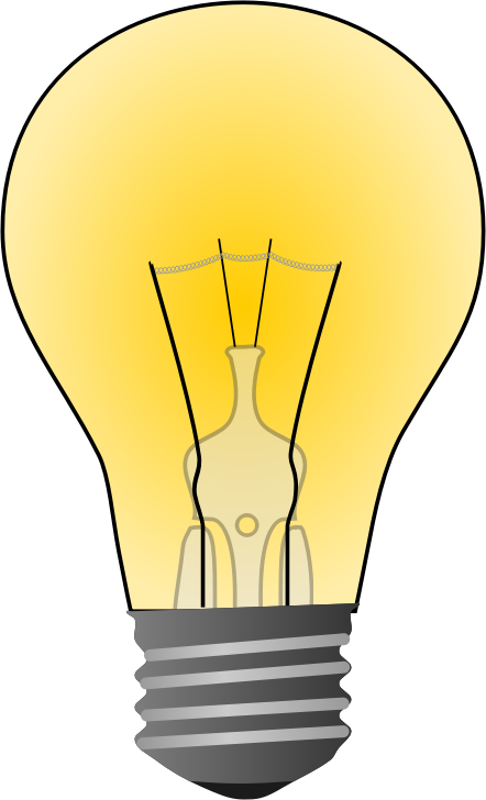 Free Incandescent Light Bulb Clip Art