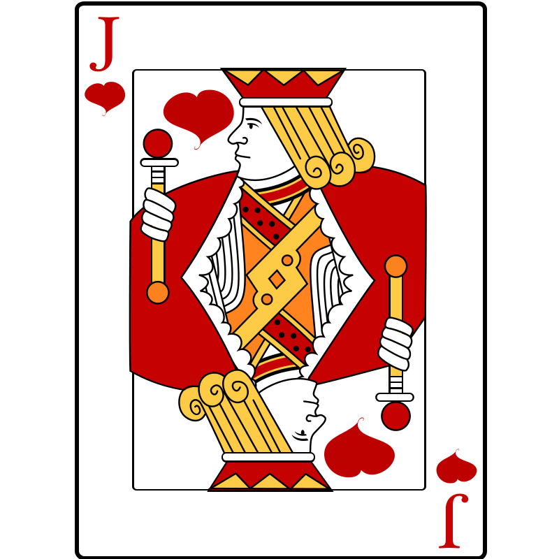 Free Jack of Hearts Playing Card Clip Art