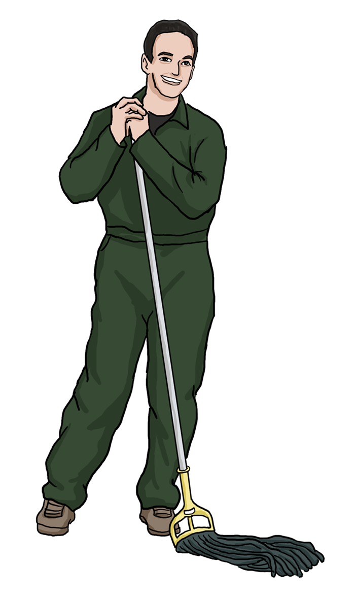 Free Janitor Clip Art
