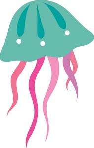 Free Jellyfish Clip Art Image - clip art illustration of a jellyfish .