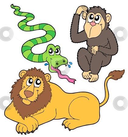 Free Jungle Animal Clip Art | - Zoo Animal Clip Art