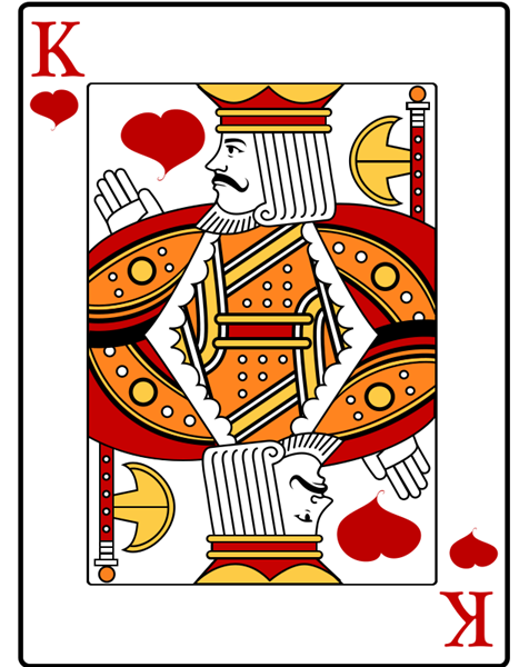 Free King of Hearts Playing Card Clip Art