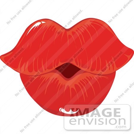Free kissing lips clip art