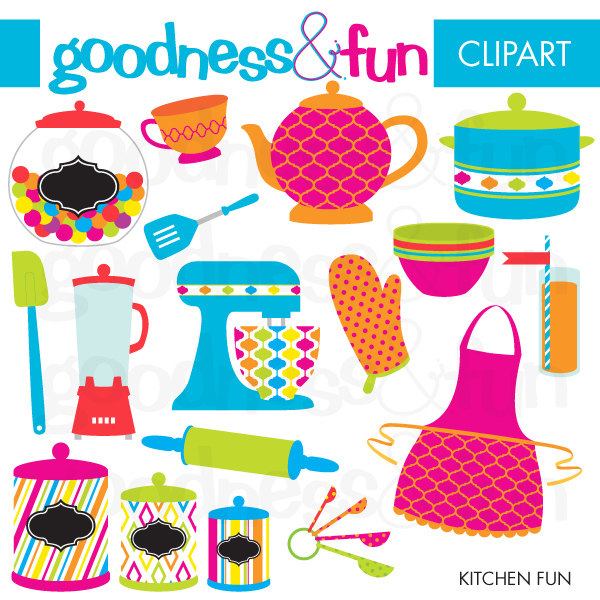 FREE - Kitchen Fun Clipart .