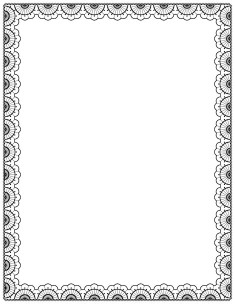Free lace border templates including printable border paper and clip art versions. File formats include GIF, JPG, PDF, and PNG.