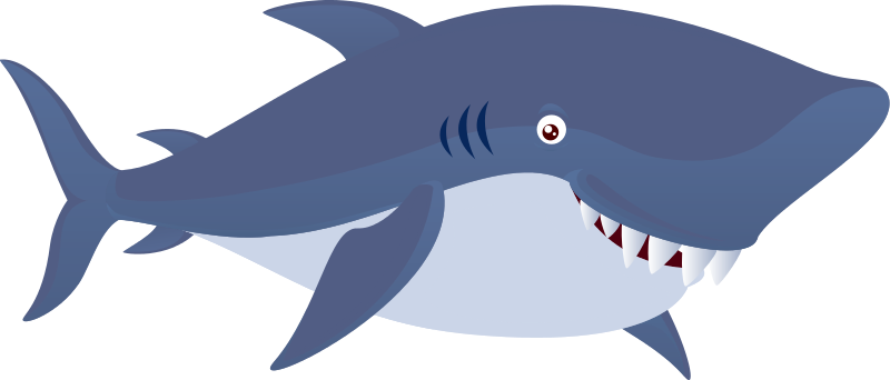 Free Large Cartoon Shark Clip Art