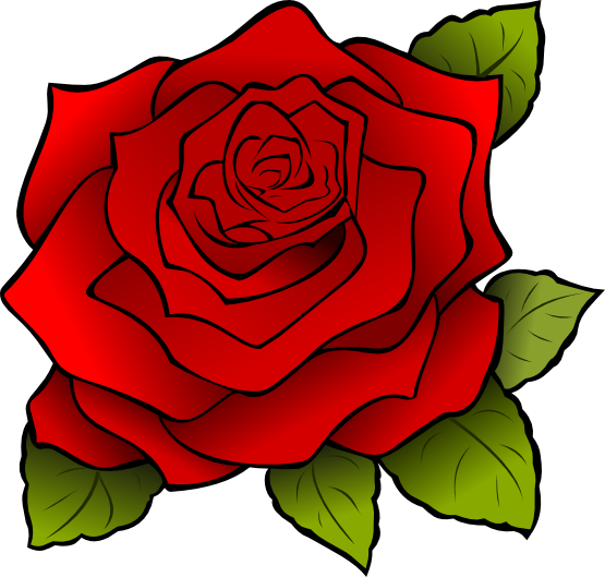 Free Large Red Rose Clip Art