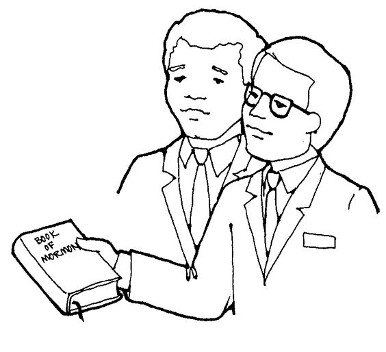 free lds clipart to color for primary children | This black and white image, Priesthood