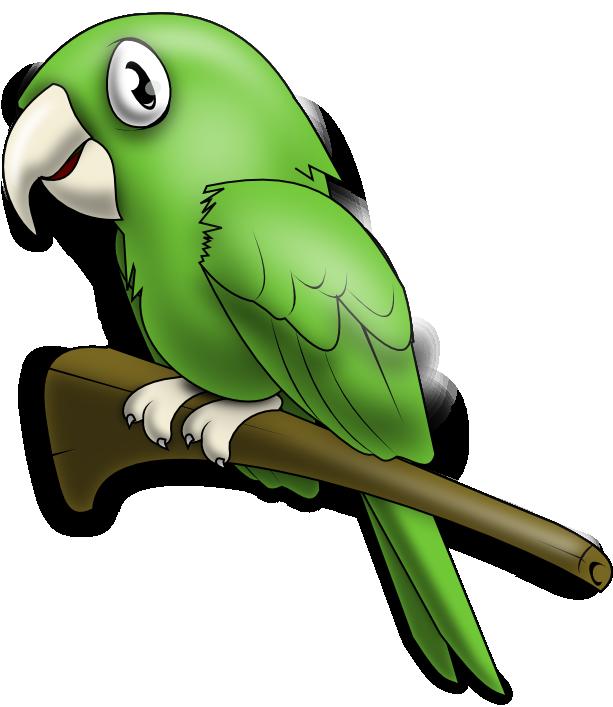 Free Lovely Green Parrot Clip Art u0026middot; parrot4