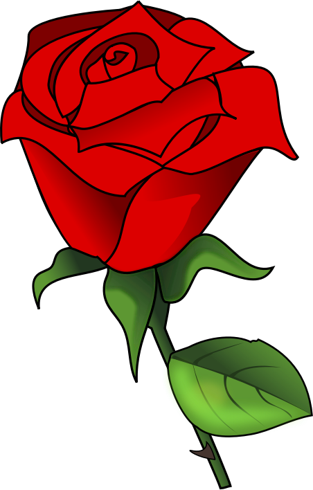 Free Lovely Red Rose Clip Art