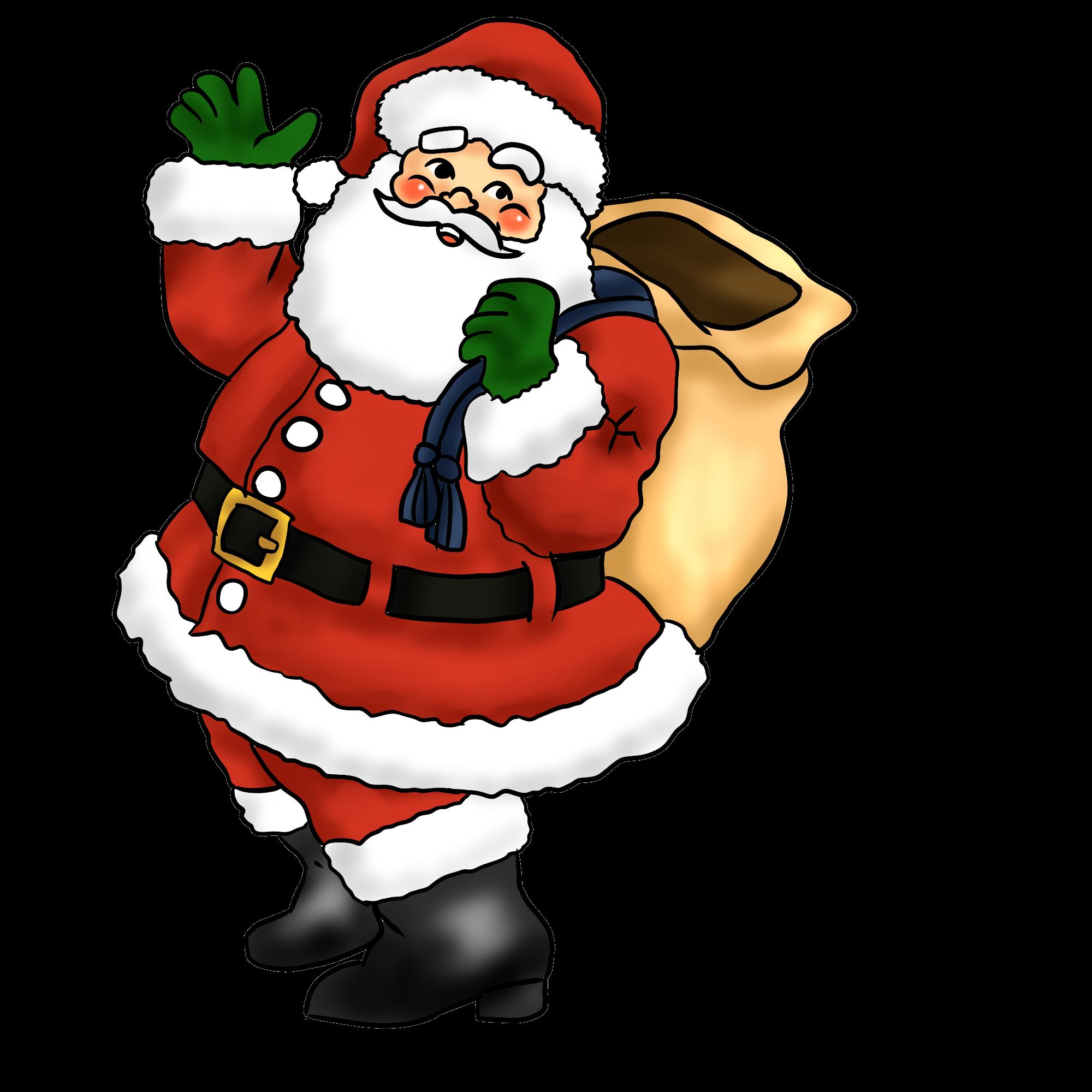 Free Lovely Santa Claus Clip Art