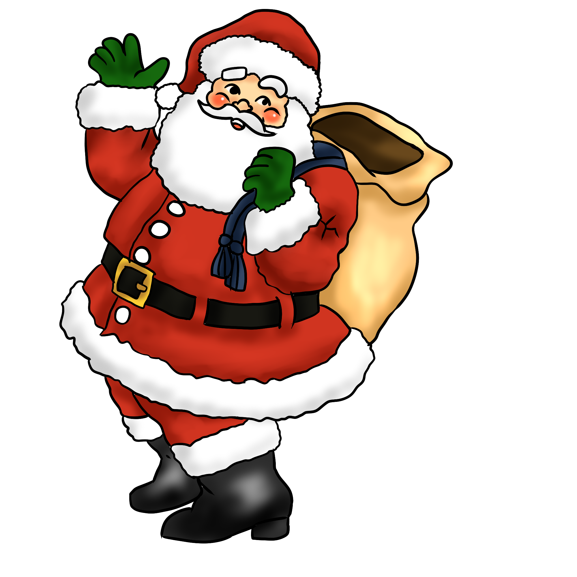 Free Lovely Santa Claus Clip Art