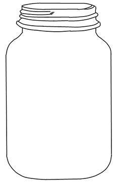 Free Mason jar Template