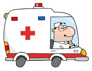Free medical clip art ambulance images stock