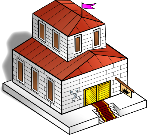 Free Medieval Town Hall Clip Art