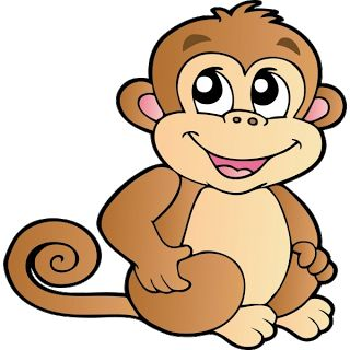 free monkey clip art images | Cute Baby Monkeys | dey all axed for you | Pinterest | Tutorials, Cute cartoon and Shape