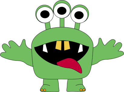 Free monster clipart 2