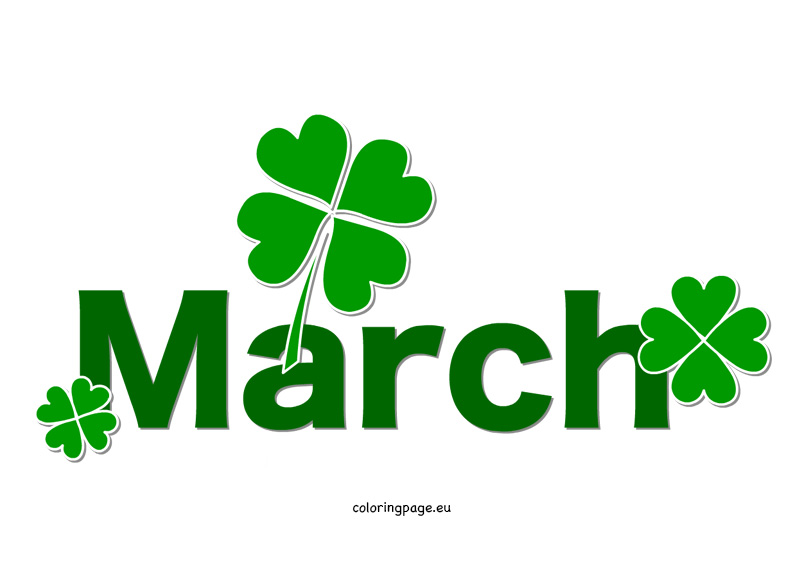 Free month clip art march .