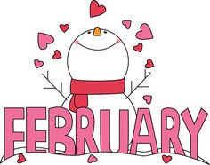 Free Month Clip Art | Month of February Snowman Love Clip Art Image - the word