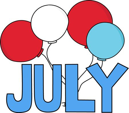 Free Month Clip Art | Red White And Blue-Free Month Clip Art | Red White and Blue July Clip Art Image - the word-6