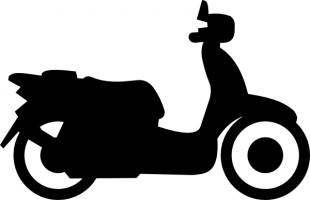 Free motorcycle silhouette .
