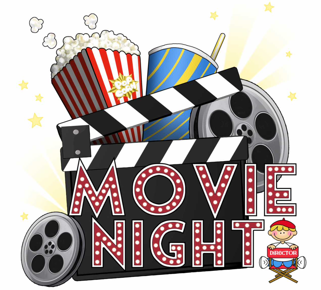 Free Movie Night Clipart