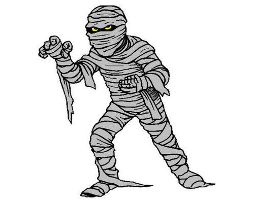 Free mummy clipart public dom - Mummy Clip Art