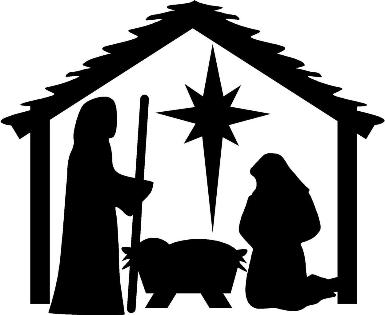 Free nativity clipart .