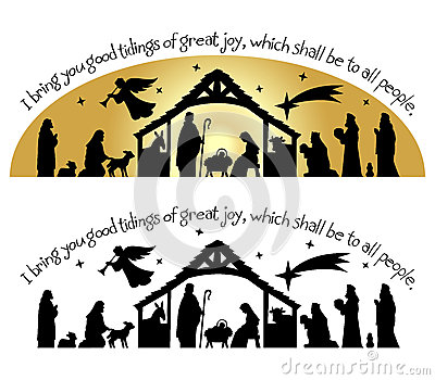Free Nativity Clipart. silhouette and Clip art