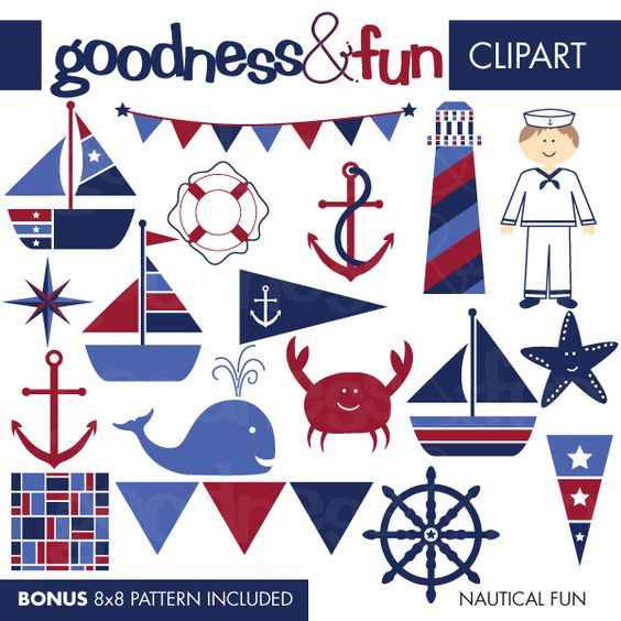 Free Nautical Clip Art | Illustrations u0026amp; Cliparts - Nautical Fun - MYGRAFICO - DIGITAL ARTS