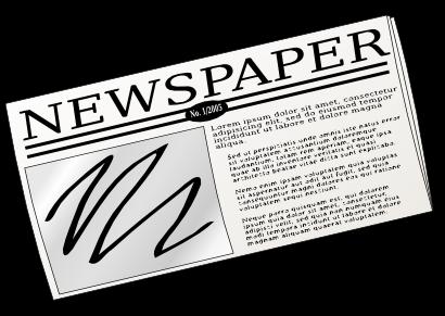 Free Newspaper Clip Art - Newspaper Clip Art