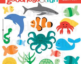 Free Ocean Clip Art. Realistic Sea Anima-Free Ocean Clip Art. Realistic Sea Animals Clip Art ..-3