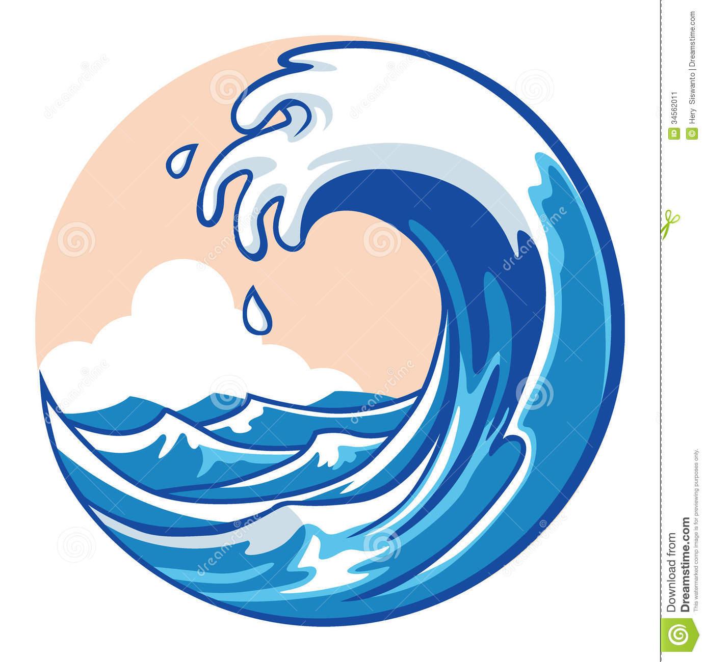 Free Ocean Clipart. Ocean Wave Stock Ima-Free Ocean Clipart. Ocean wave Stock Image-3