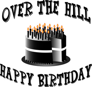 Free Old Clip Art Image Over The Hill Birthday Cake For Old Person