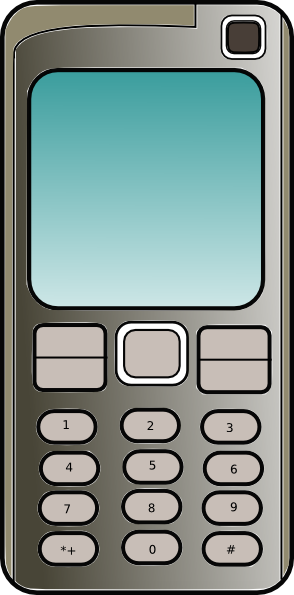Free Old Style Mobile Phone Clip Art