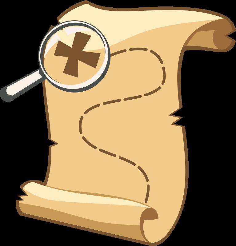 Free Old Treasure Map Clip Art