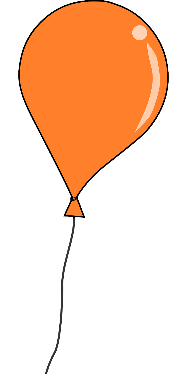 Free Orange Balloon Clip Art