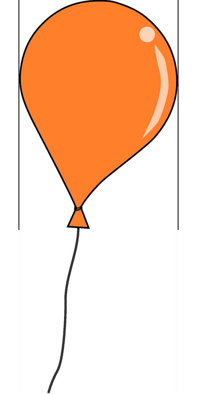 Free Orange Balloon Clip Art