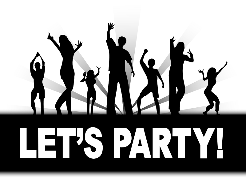 Free party clipart graphics of .