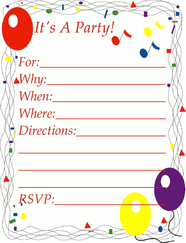 Free Party Invitation Clipart