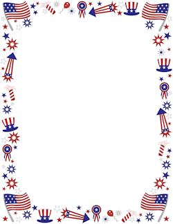 Free Patriotic Borders Clipart