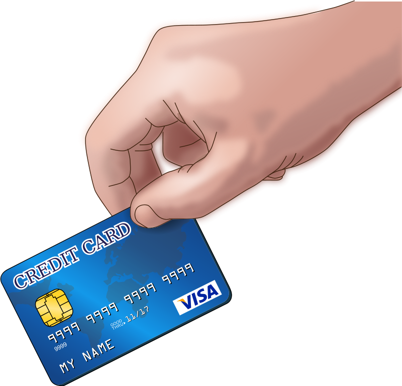 Free Paying with a Credit Card Clip Art