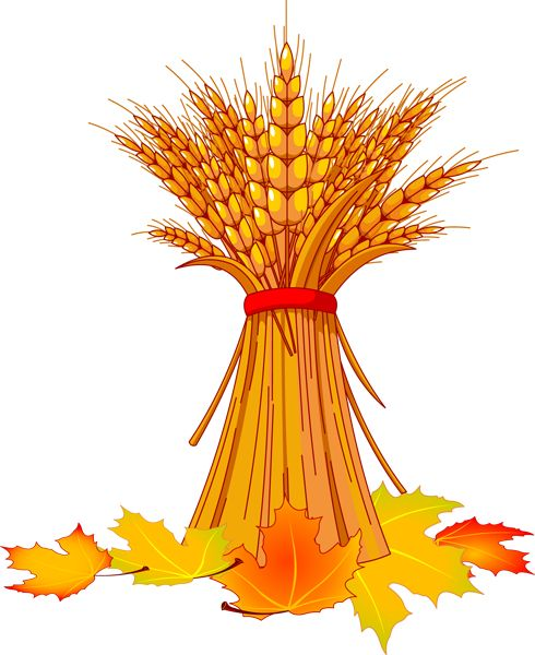 Free Pictures of Autumn Leaves | Wheat and Fall Leaves Clip Art
