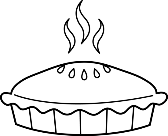 92 Pie Clipart Black And White