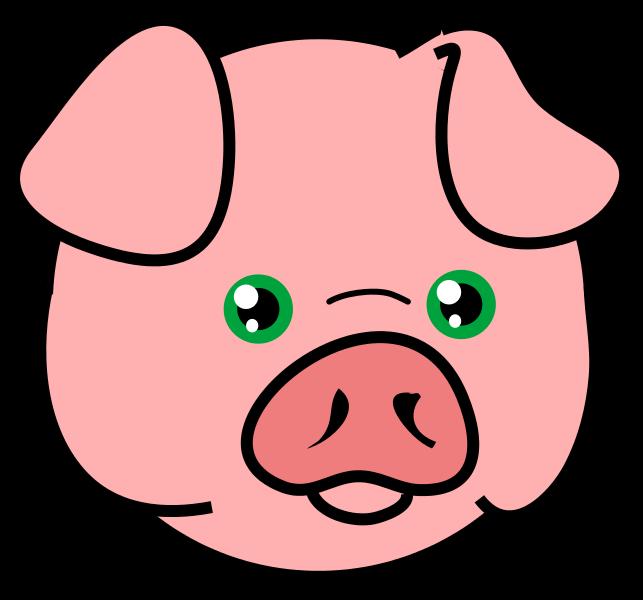 Free Pig Face Clip Art