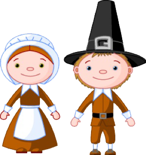 Free Pilgrim Couple Clip Art-Free Pilgrim Couple Clip Art-3