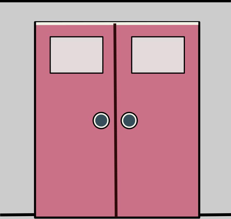 Free Pink Door Clip Art