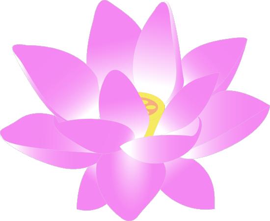 Free Pink Lotus Flower Clip Art