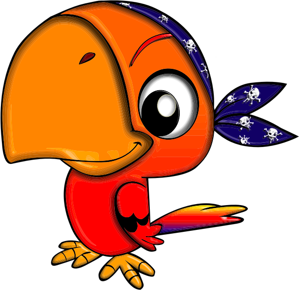 Free Pirate Parrot Clip Art-Free Pirate Parrot Clip Art-7