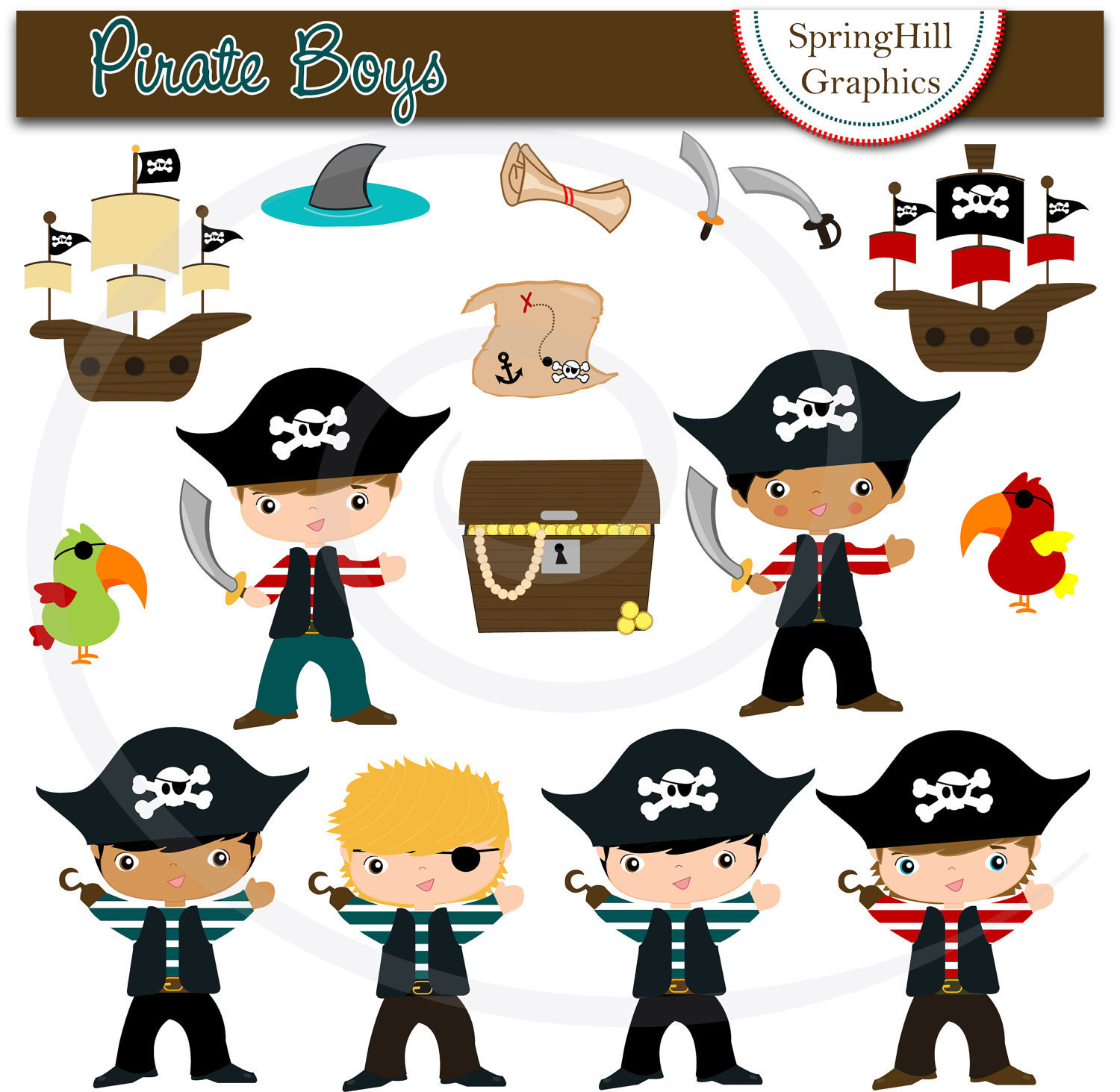 Free Pirate Themed Clipart #1